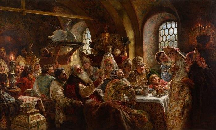 Константин Маковский, «Боярский свадебный пир» 1883 год
