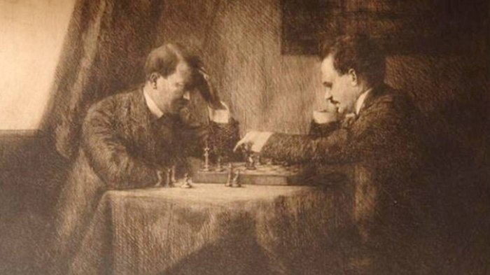 Эмма Лёвенштамм, «Игра в шахматы: Ленин с Гитлером — Вена, 1909» («A Chess Game: Lenin with Hitler — Vienna 1909»)