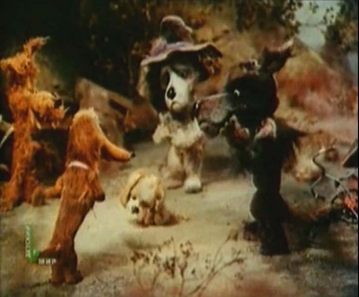 Кадр из м/ф «До свидания, овраг!», 1981 год