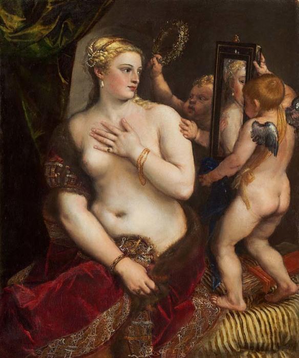 Тициан, «Венера перед зеркалом». Теперь находится в Национальной галерее искусства, Вашингтон