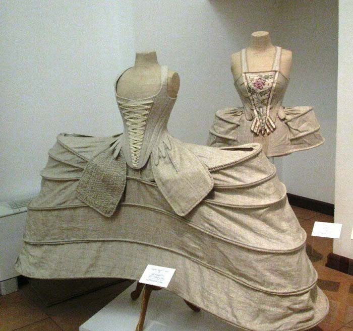 Внутренняя конструкция платья-мантуя