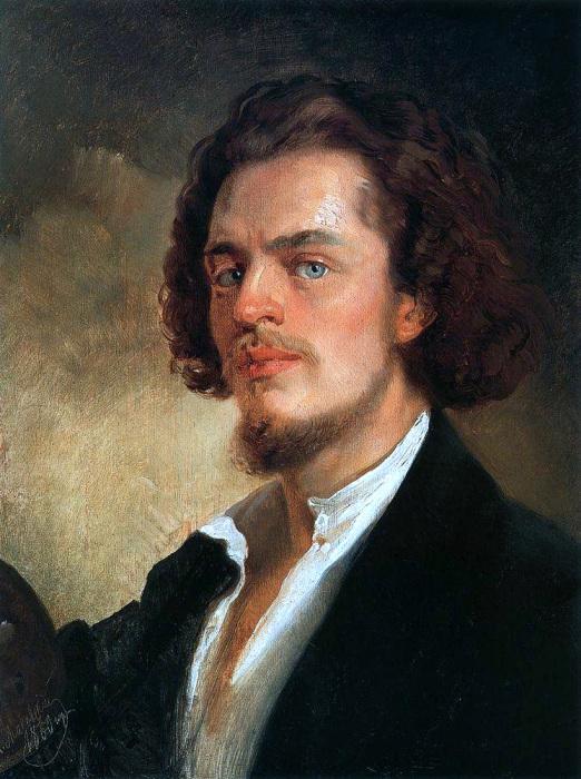 Константин Маковский, Автопортрет, 1856 год
