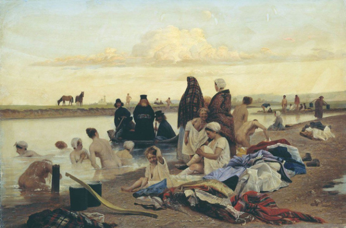 Лев Соловьев, «Монахи (Не туда заехали)», 1897 год