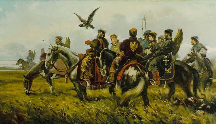 Соколиная охота была любимым развлечением государей и дворян