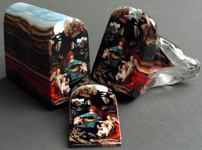 Лорен Стамп, «Мадонна в гроте», выполненная в технике Миллефиори