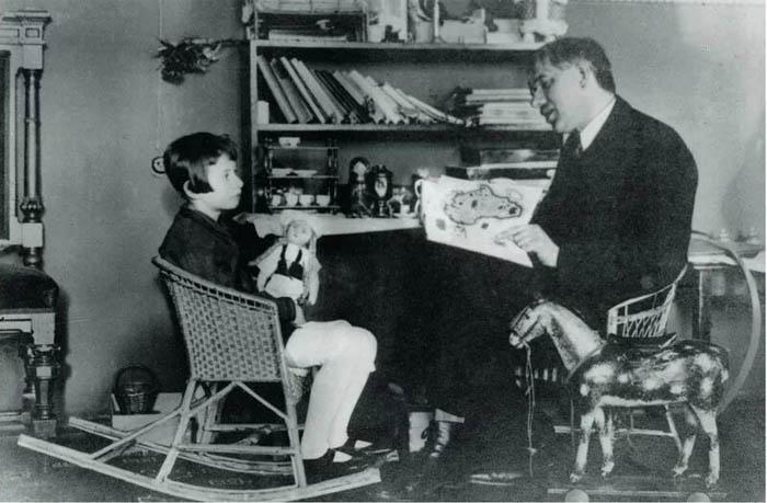 Чуковский с дочерью