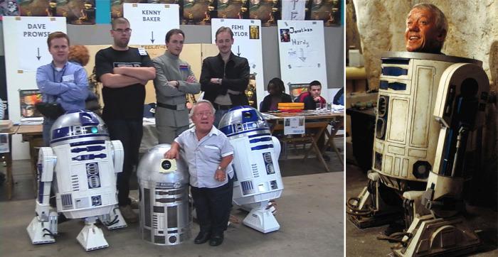 Главной ролью Кенни Бейкера стал робот  R2-D2 из «Звездных войн»