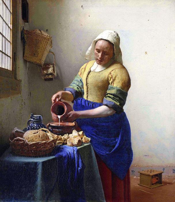 Ян Вермеер, «Молочница» (1658—1660 гг), Государственный музей, Амстердам
