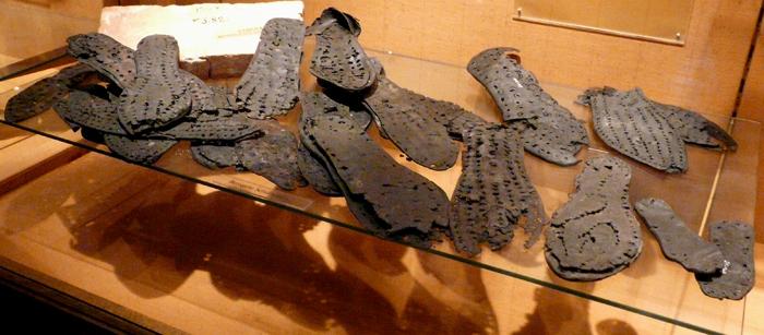 Подошвы древнеримских военных сапог, музей Заальбурга