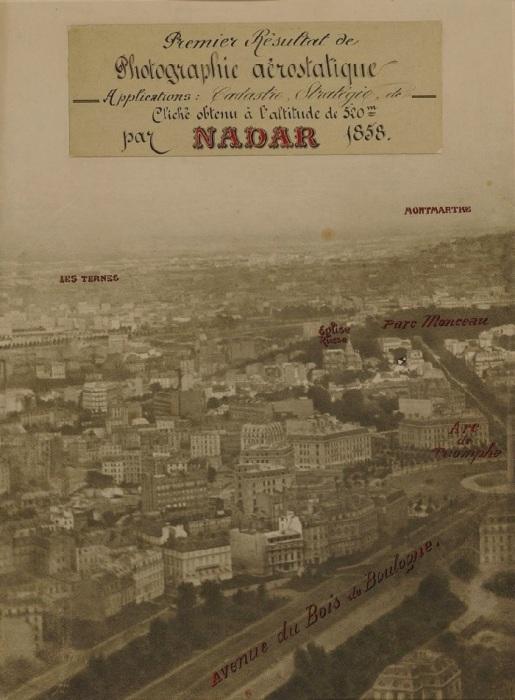 Феликс Надар. Панорама Парижа с воздуха, 1866 год