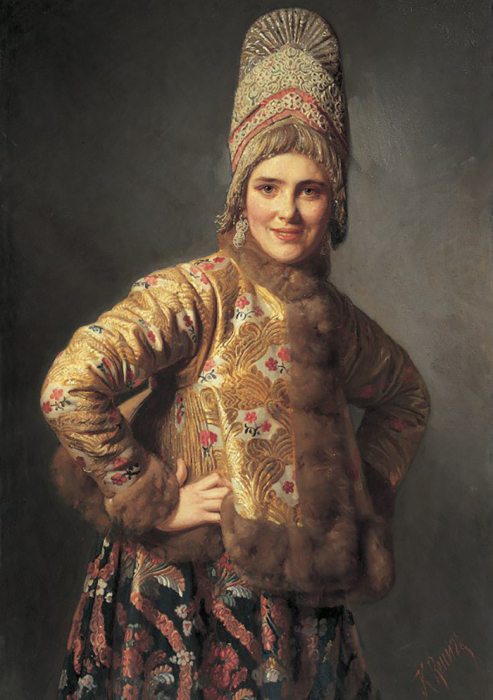 К. Вениг, Русская девушка, 1889