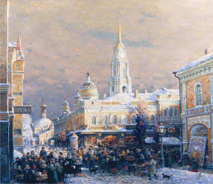 А.В Шевелев,Базар на Красной площади