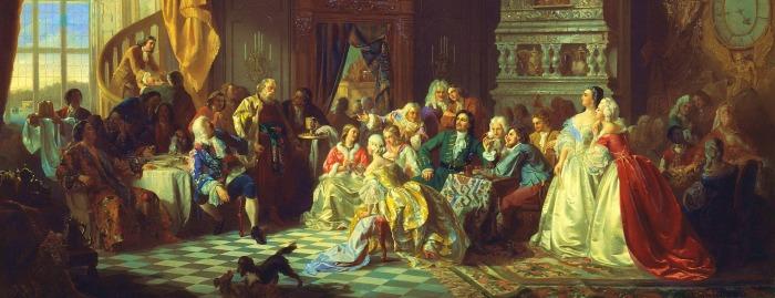 Станислав Хлебовский «Ассамблея при Петре I»