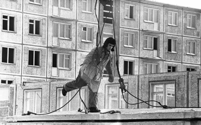На стройке 1960-е Всеволод Тарасевич