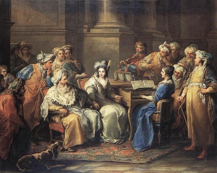 Шарль Андре Ван Лоо «Султан даёт концерт в честь своей наложницы», 1737 г.