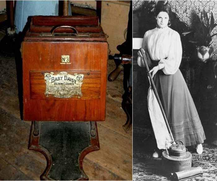 Работа первого пылесоса требовала объединенных усилий двух человек, поэтому модель 1908 года была очень актуальной