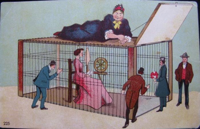 «Матушка на страже и знает, когда нужно действовать», открытка начала XX века