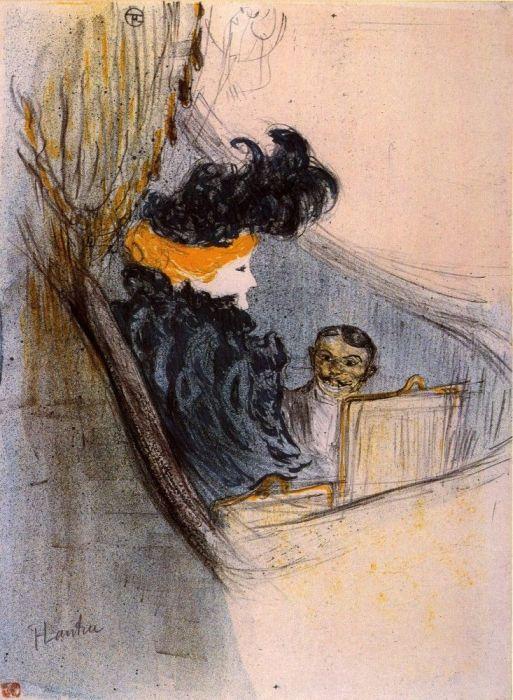 «Idylle Princiere», литография Тулуз-Лотрека, на которой художник изобразил Клару Уорд и Риго Янчи
