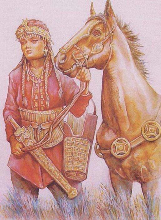 Среди женщин-сарматов было много храбрых воинов