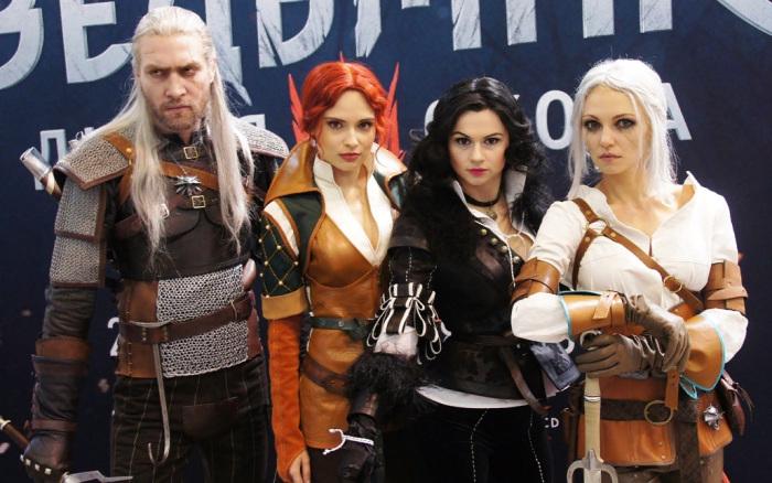 Участники первого российского фестиваля Comic Con в 2014 году