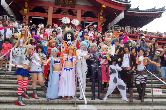 На фестивалях косплея в Японии фанаты часто оживляют своих любимых персонажей манга и аниме