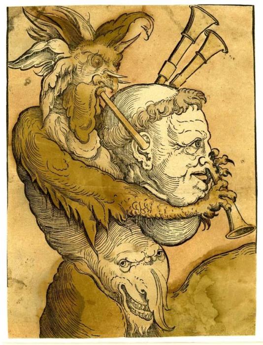 Дьявол на старинной гравюре