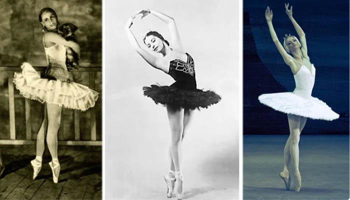 Балетные пачки в 1920, 1955 и 2010 годах
