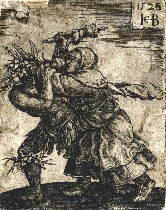 Бенанданти на средневековой гравюре