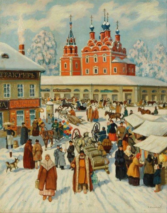 К.К. Кузнецов, Рынок зимой