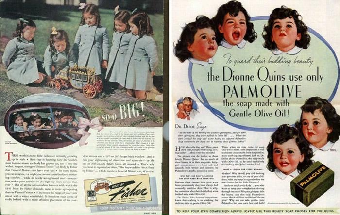 Реклама с сёстрами Дионн