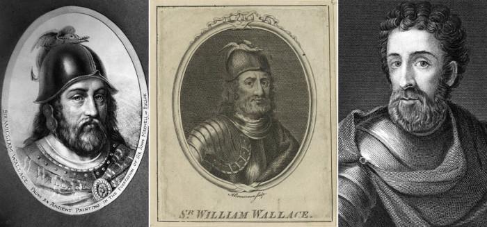 Изображения Уильяма Уоллеса на гравюрах разных эпох