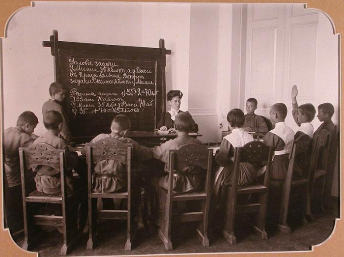 Урок арифметики, Евпаторийская школа-санаторий для глухонемых детей, 1907 год