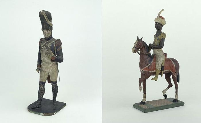 Игрушечный солдатик и всадник-мамелюк, принадлежавшие сыну Наполеона Бонапарта. Музей Армии, Париж.
