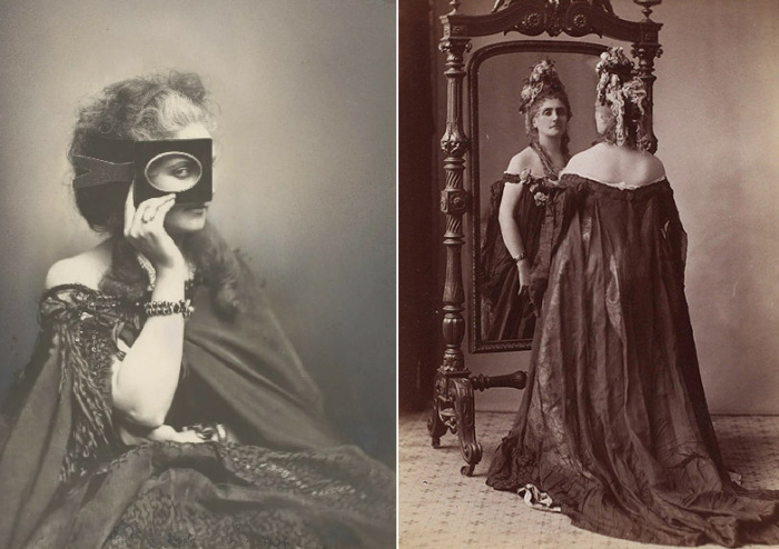 Для графини де Кастильоне были изобретены многие приемы профессиональной фотосъемки