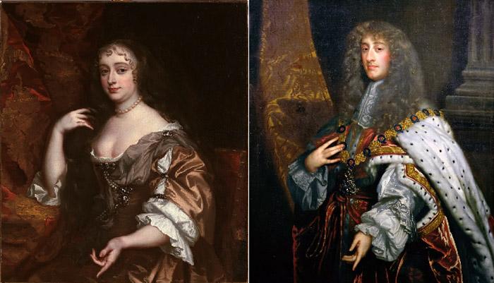 Анна Хайд и ее супруг, позднее коронованный как Яков II