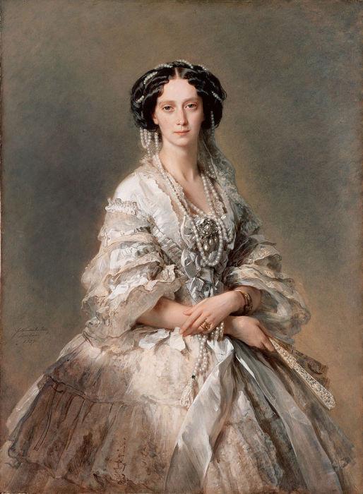 Мария Александровна, портрет кисти Франца Винтерхальтера, 1857 год (Эрмитаж)