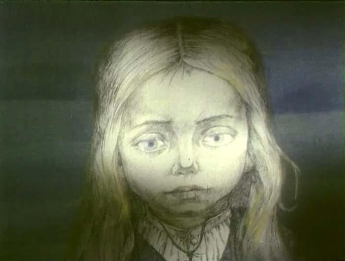 Кадр из м/ф «Девочка со спичками», 1996 год