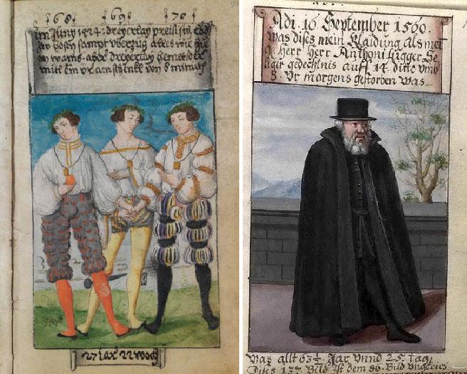 Тройной портрет Маттеуса Шварца в испанских рубашках / Маттеус Шварц в 63 года