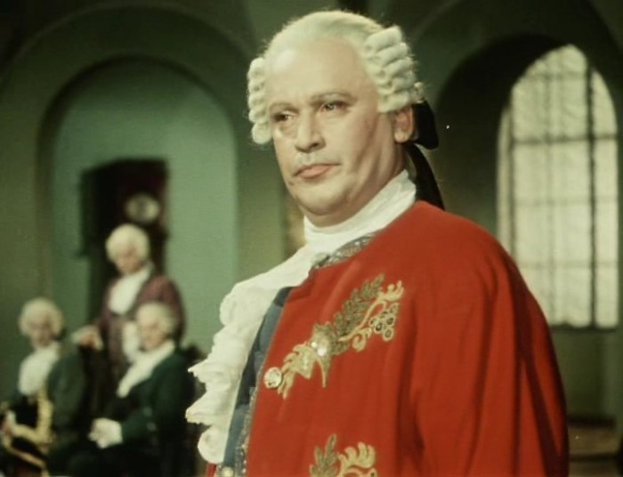 Борис Ливанов в роли М. Ломоносова, «Михайло Ломоносов», 1955 г.
