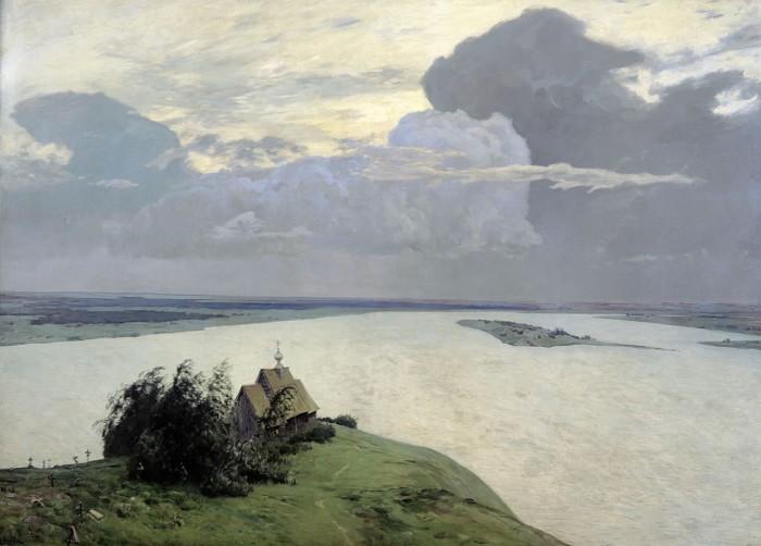 И. Левитан «Над вечным покоем», 1894 г.