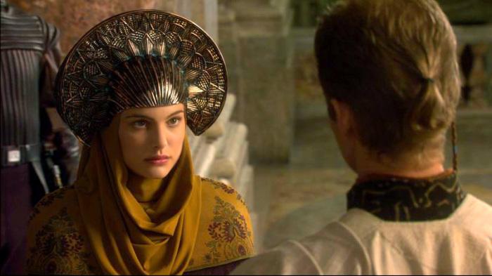 Кадр из фильма «Звездные войны». Принцесса Амидала в фантазийном кокошнике