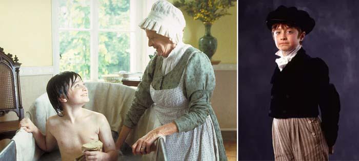 Мэгги Смит и юный Дэвид Рэдклифф в фильме «Дэвид Копперфильд», 1999 год