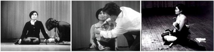 Перформанс Йоко Оно, проведенный в 60-х годах