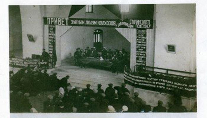 Слет колÑозников-стаÑановцев в Спасском Ñраме села Кукобой, 1934 год