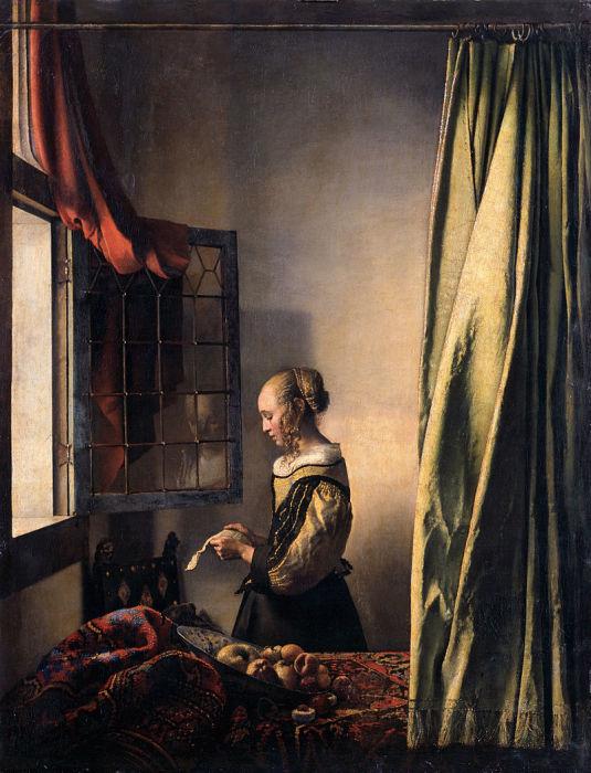 Ян Вермеер «Девушка, читающая письмо у открытого окна» (1657 год), Галерея старых мастеров, Дрезден