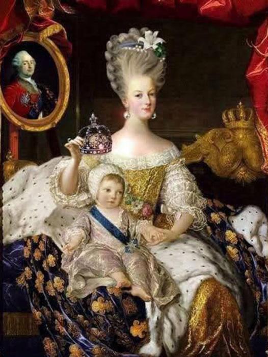 Мария Антуанетта с наследником