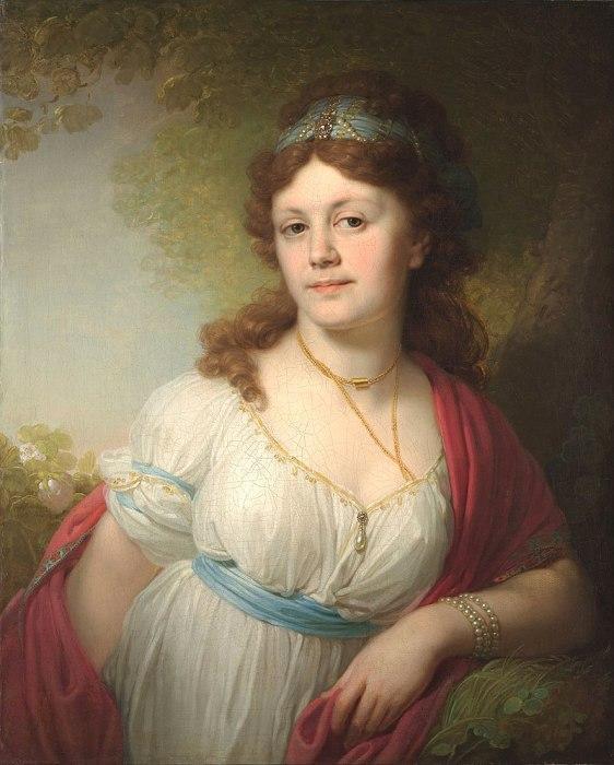 Елизавета Григорьевна Тёмкина, портрет работы Владимира Боровиковского, 1798 год