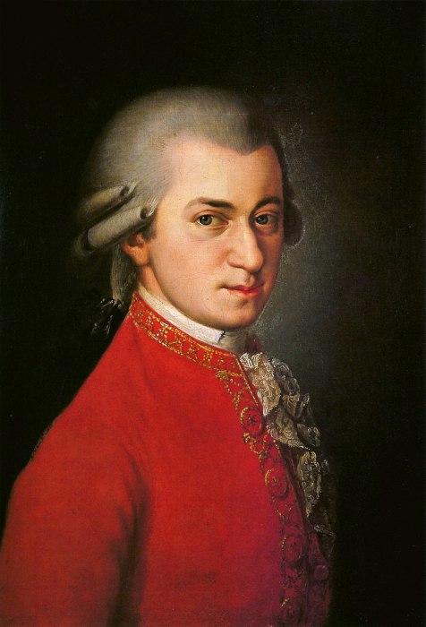 Посмертный портрет Моцарта работы Барбары Крафт, 1819