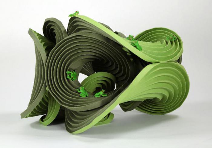 Эрик и Мартин Демэйн, оригами «Гиперболический параболоид»