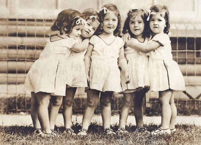 Сестры Дионн – редкий случай рождения пятерых близнецов